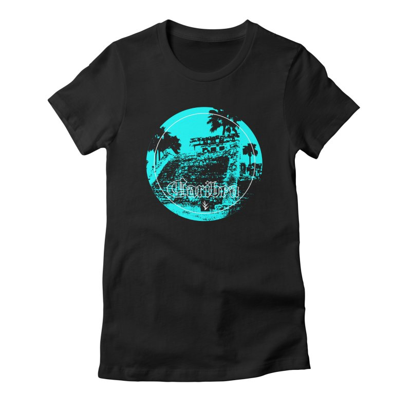 Blue Mayan Women's Fitted T-Shirt by Caribea