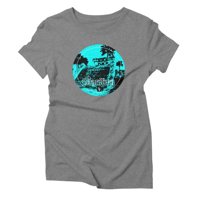 Blue Mayan Women's Triblend T-Shirt by Caribea