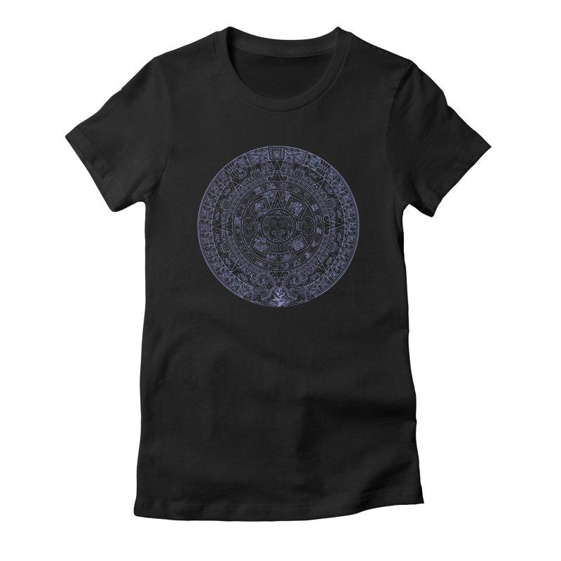 Aztec Plum Calendar Women's T-Shirt by Caribea