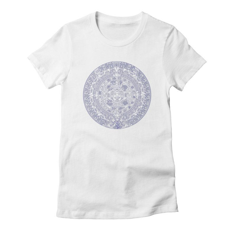 Aztec Plum Calendar Women's Fitted T-Shirt by Caribea