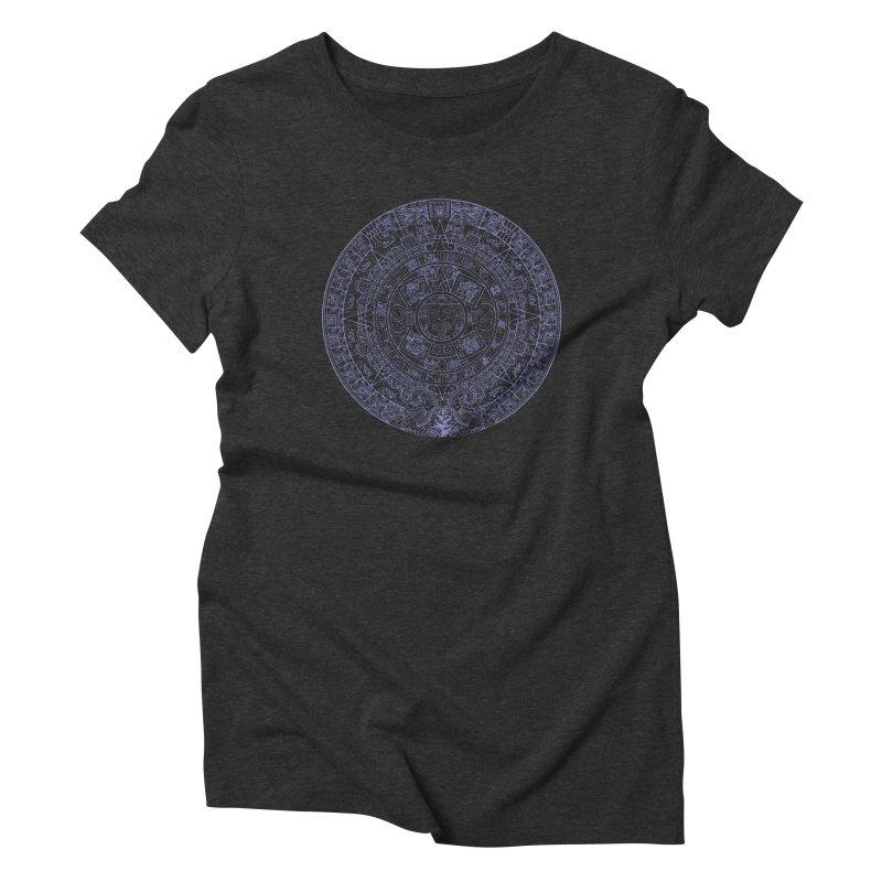 Aztec Plum Calendar Women's Triblend T-Shirt by Caribea