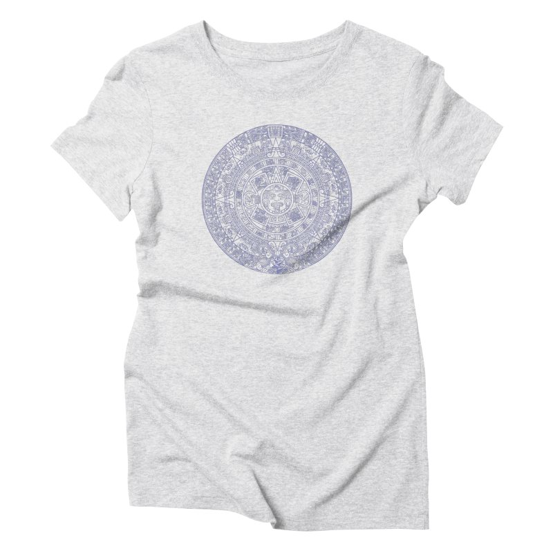 Aztec Plum Calendar Women's Triblend T-Shirt by Caribea