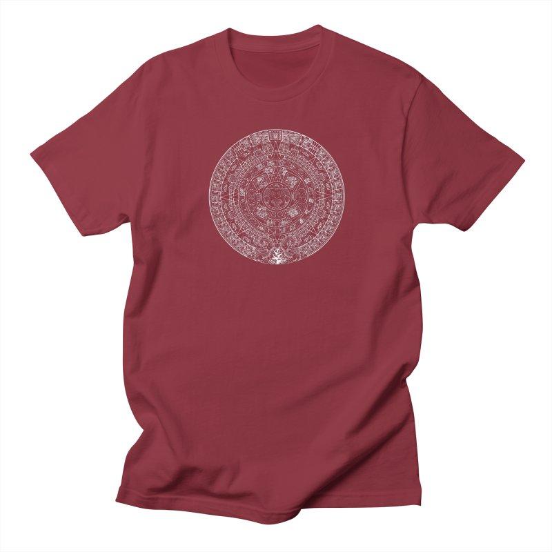 Womens Aztec Calendar white Women's Regular Unisex T-Shirt by Caribea