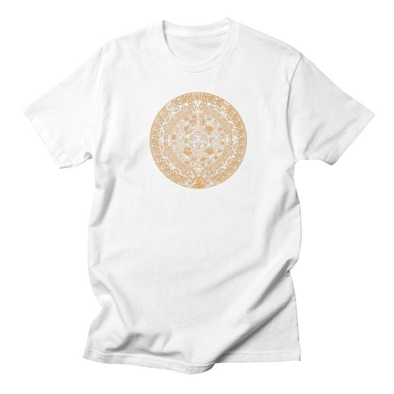 Mayan Calendar Orange Women's Regular Unisex T-Shirt by Caribea