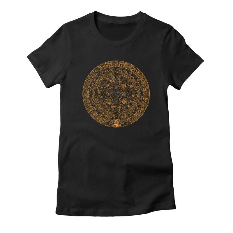Mayan Calendar Orange Women's T-Shirt by Caribea