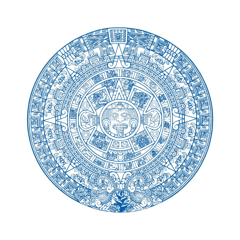 Mens Blue Aztec Calendar by Caribea