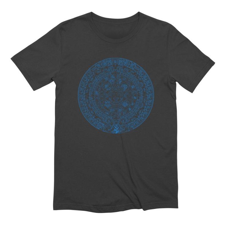 Mens Blue Aztec Calendar Men's Extra Soft T-Shirt by Caribea