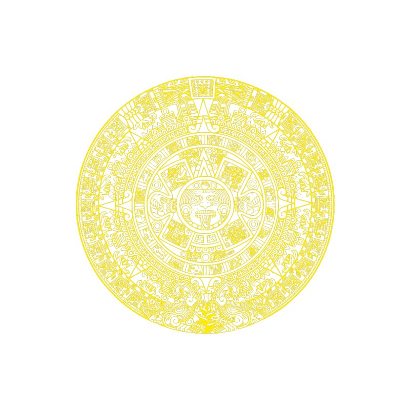 Gold Aztec Calendar by Caribea