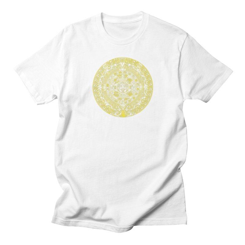 Gold Aztec Calendar Women's Regular Unisex T-Shirt by Caribea