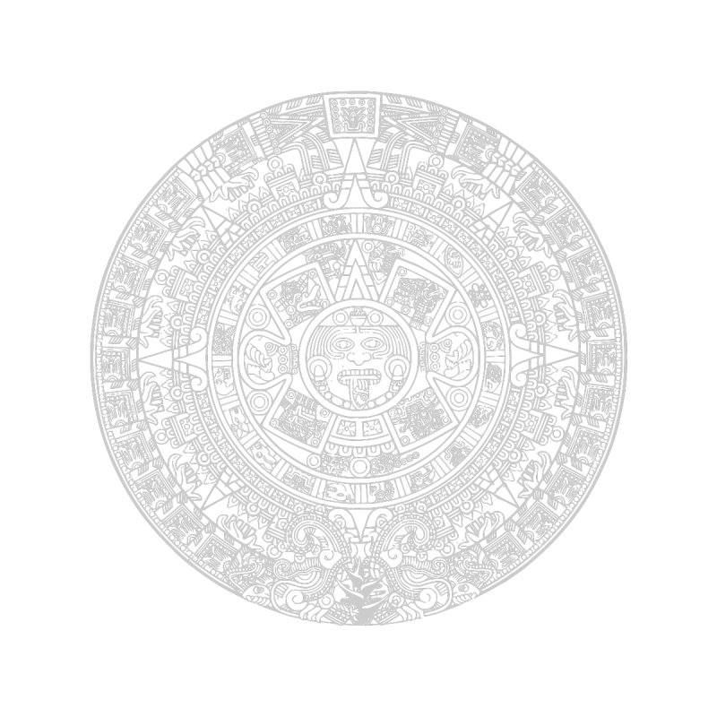 Aztec Calendar Gray by Caribea
