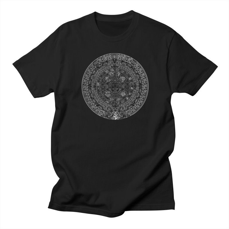 Aztec Calendar Gray Men's Regular T-Shirt by Caribea