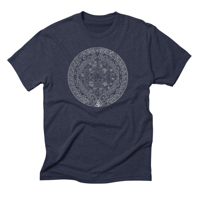Aztec Calendar Gray Men's Triblend T-Shirt by Caribea