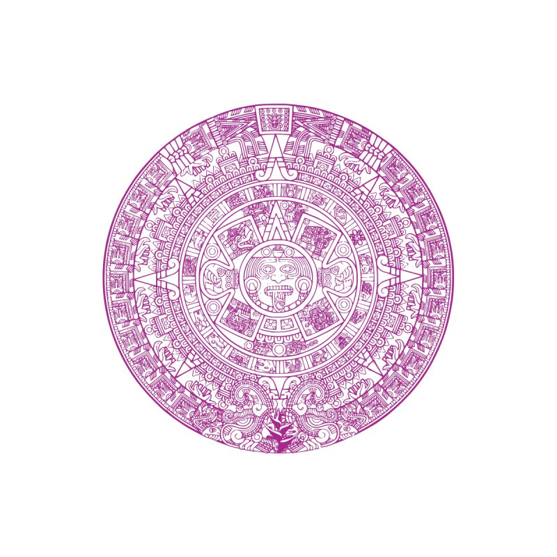 Womens Fuschia Aztec Calendar by Caribea