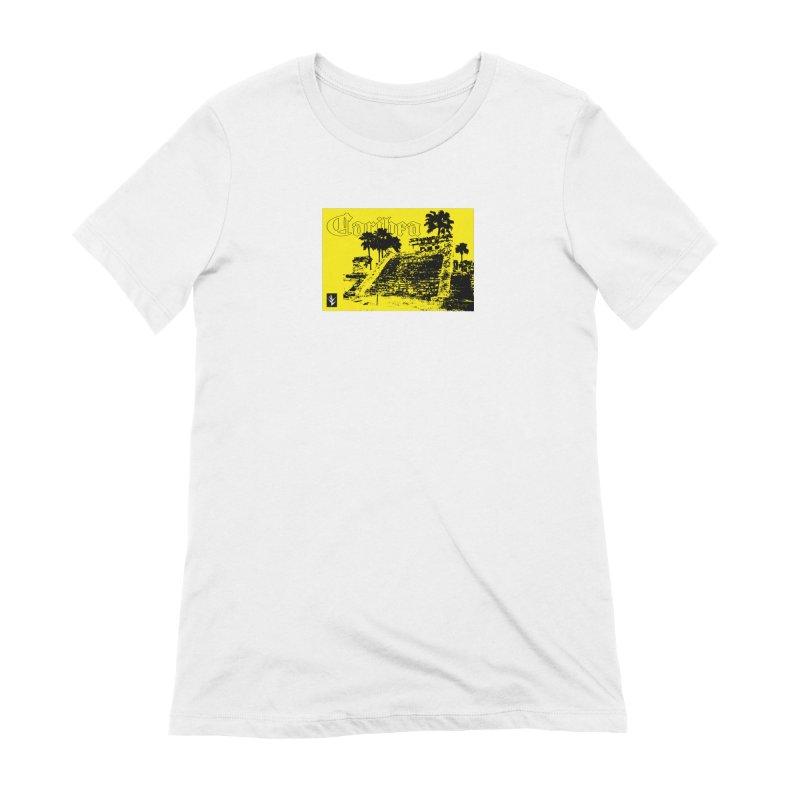 Womens Yellow Aztec Pyramid Women's Extra Soft T-Shirt by Caribea