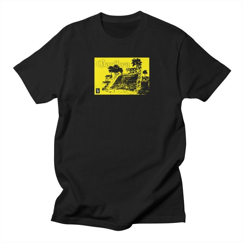 Womens Yellow Aztec Pyramid Women's Regular Unisex T-Shirt by Caribea