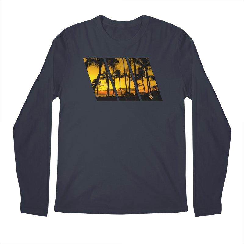 Sunset Palms Men's Longsleeve T-Shirt by Caribea