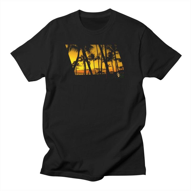 Sunset Palms Women's Regular Unisex T-Shirt by Caribea