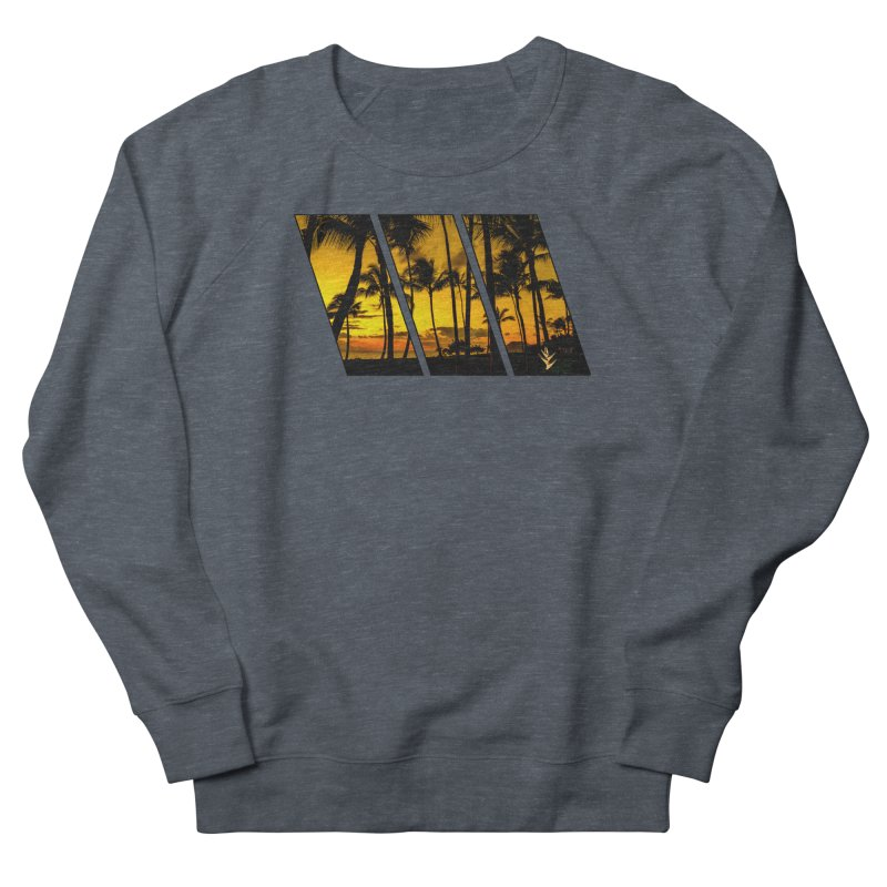 Sunset Palms Men's French Terry Sweatshirt by Caribea
