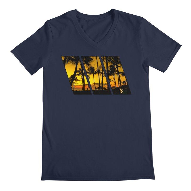 Sunset Palms Men's Regular V-Neck by Caribea