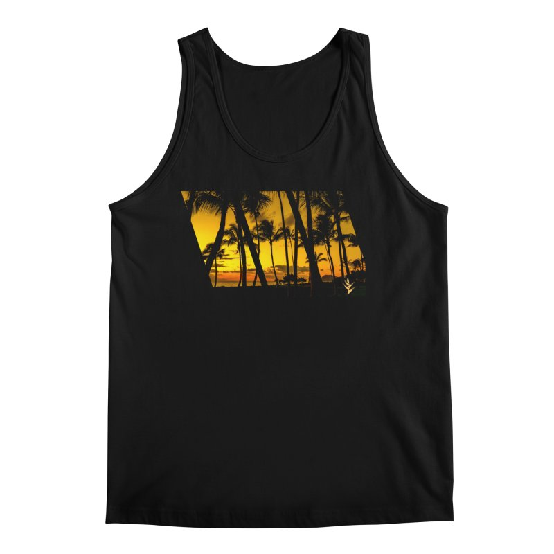 Sunset Palms Men's Regular Tank by Caribea