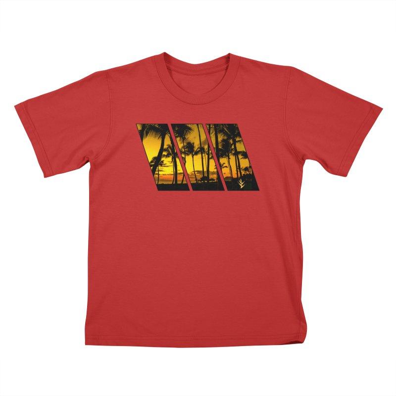 Sunset Palms Kids T-Shirt by Caribea