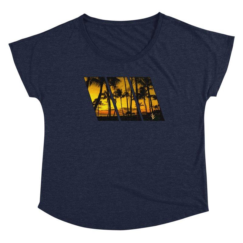 Sunset Palms Women's Dolman Scoop Neck by Caribea