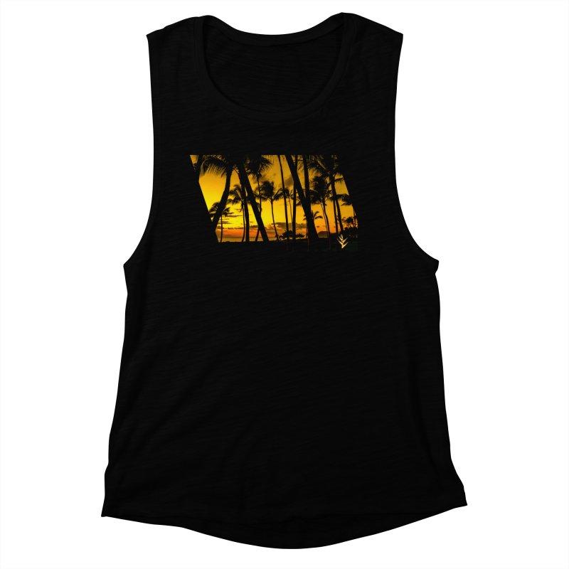 Sunset Palms Women's Muscle Tank by Caribea