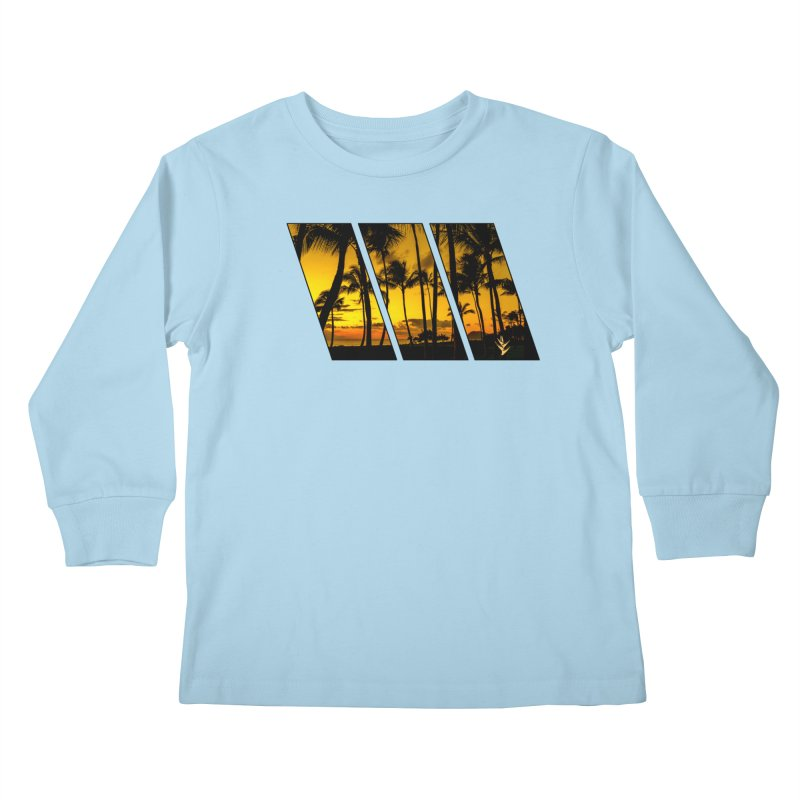 Sunset Palms Kids Longsleeve T-Shirt by Caribea