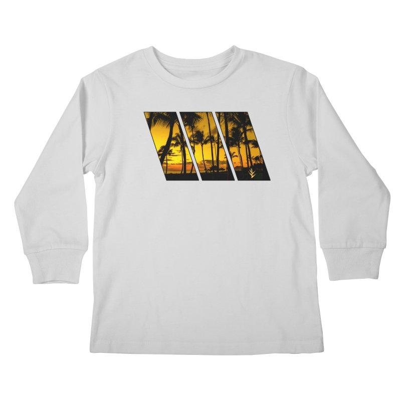 Sunset Palms Kids Longsleeve T-Shirt by Caribea