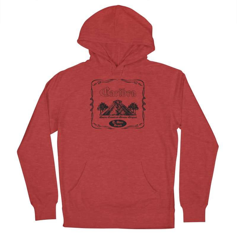 Mayan Pyramid Women's French Terry Pullover Hoody by Caribea