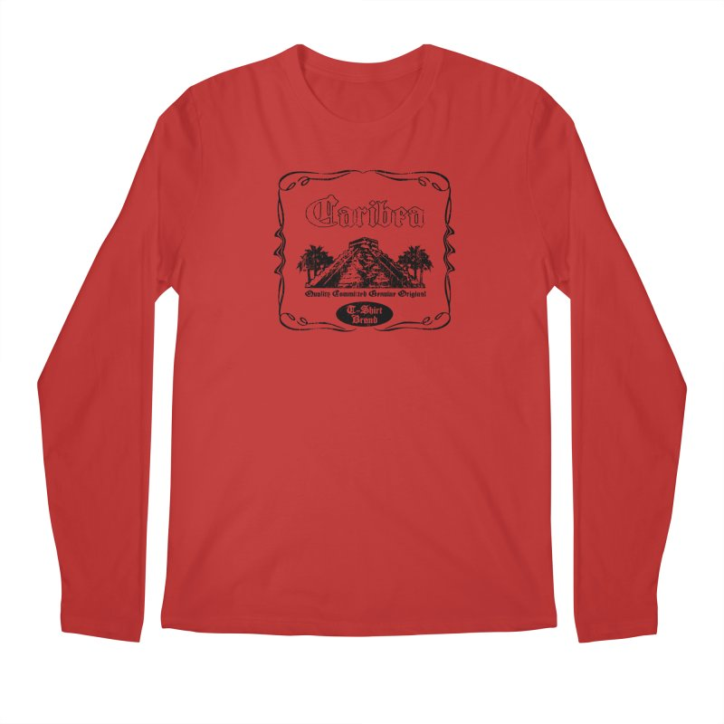 Mayan Pyramid Men's Regular Longsleeve T-Shirt by Caribea