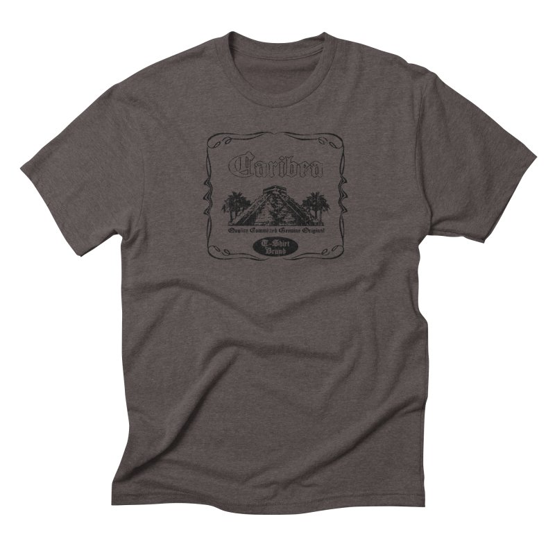 Mayan Pyramid Men's Triblend T-Shirt by Caribea