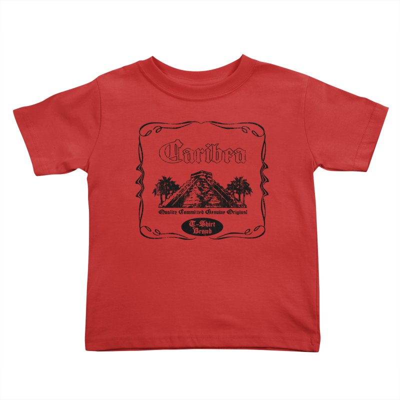 Mayan Pyramid Kids Toddler T-Shirt by Caribea