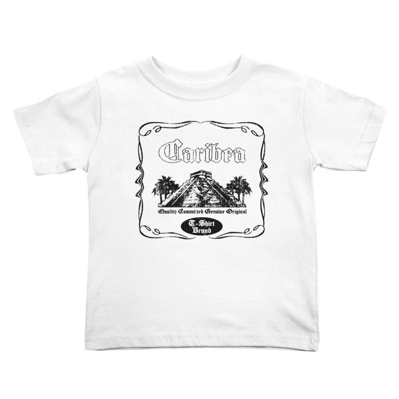 Mayan Pyramid Kids Toddler T-Shirt by Caribea