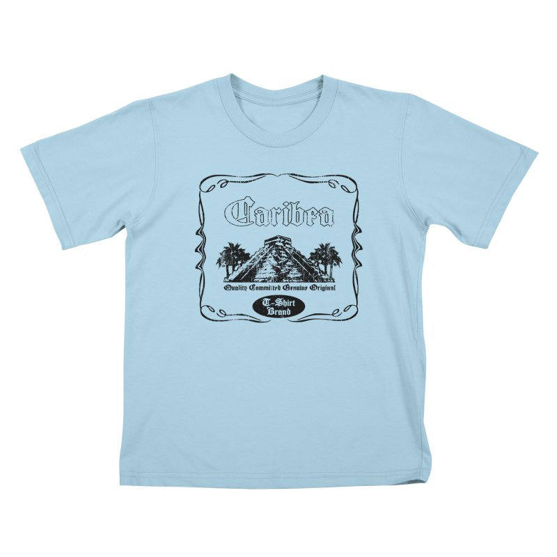 Mayan Pyramid Kids T-Shirt by Caribea