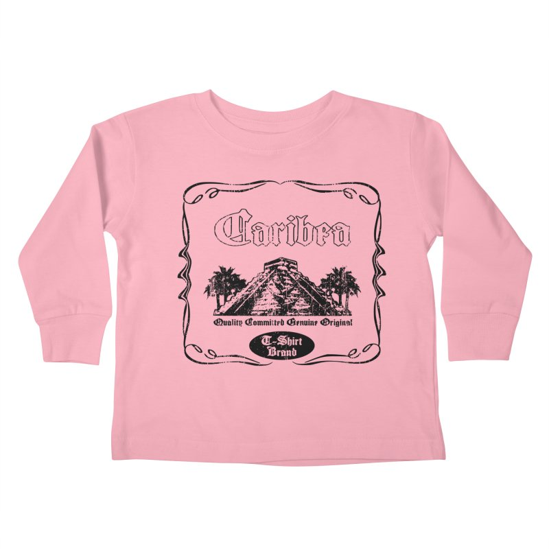 Mayan Pyramid Kids Toddler Longsleeve T-Shirt by Caribea