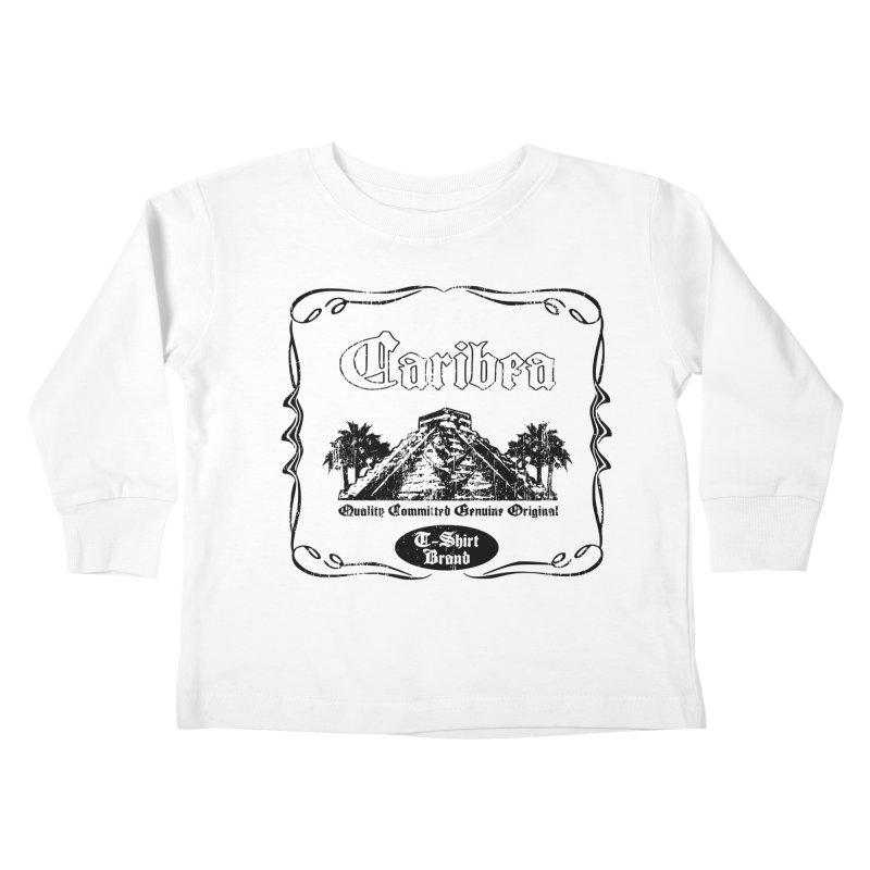 Mayan Pyramid Kids Toddler Longsleeve T-Shirt by Caribea