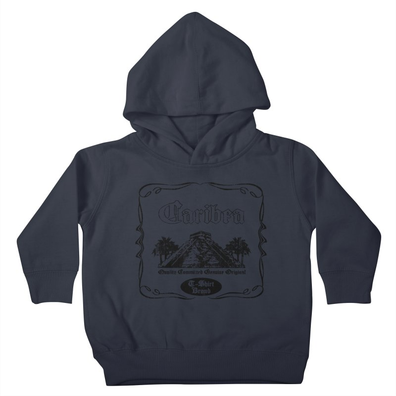 Mayan Pyramid Kids Toddler Pullover Hoody by Caribea