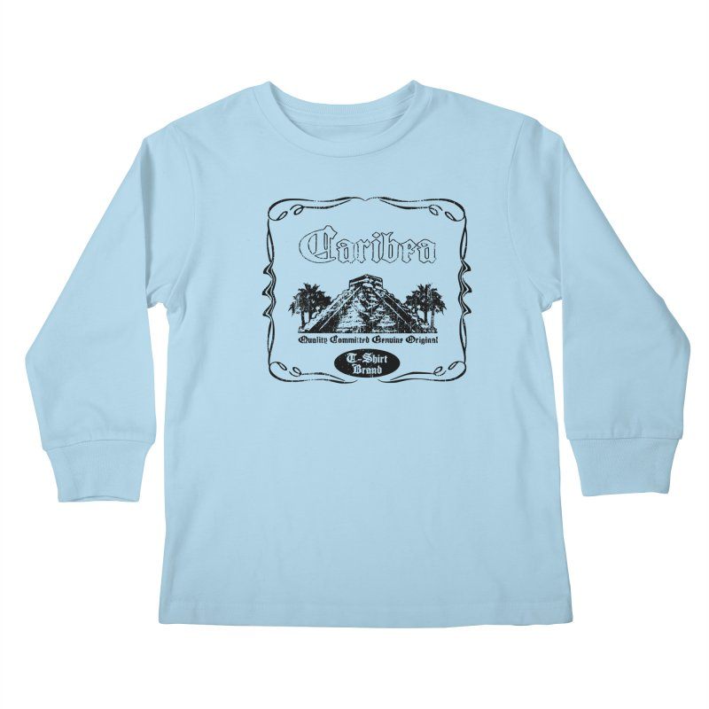 Mayan Pyramid Kids Longsleeve T-Shirt by Caribea