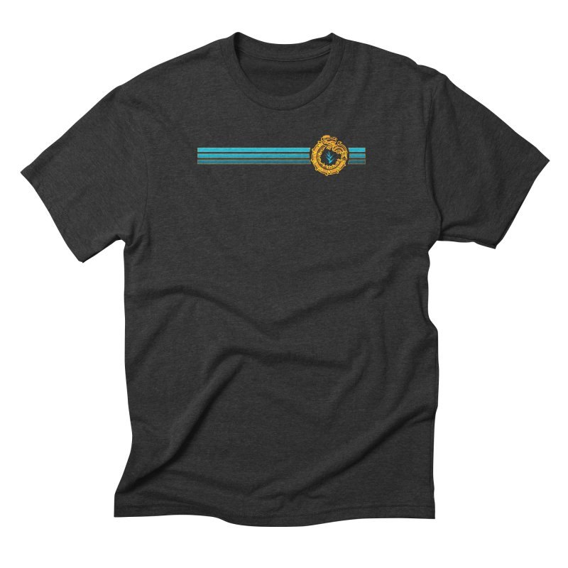 Serpent Stripes Gold Men's T-Shirt by Caribea