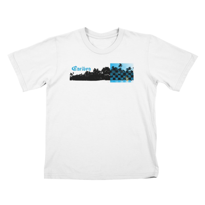 Night Beach Kids T-Shirt by Caribea