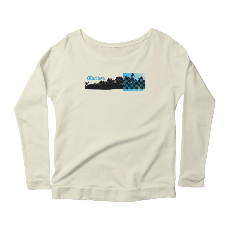 Night Beach Women's Scoop Neck Longsleeve T-Shirt by Caribea