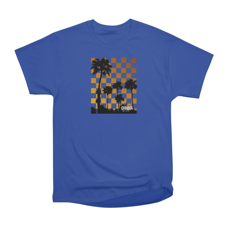 Sunset Palms Men's Heavyweight T-Shirt by Caribea