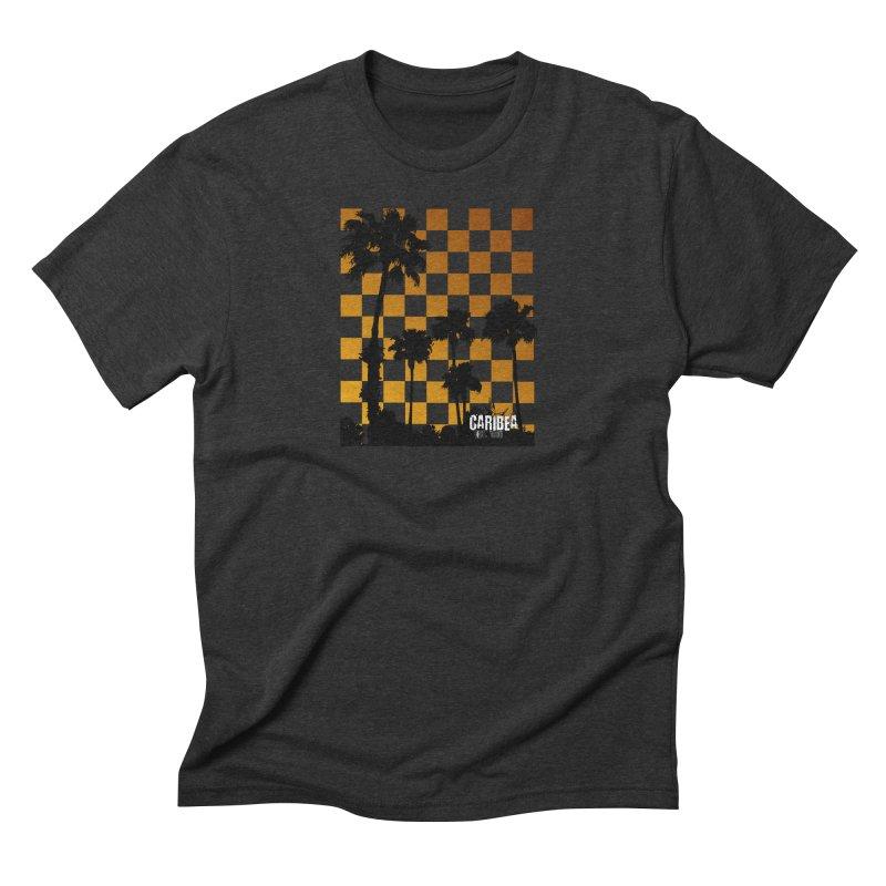 Sunset Palms Men's Triblend T-Shirt by Caribea