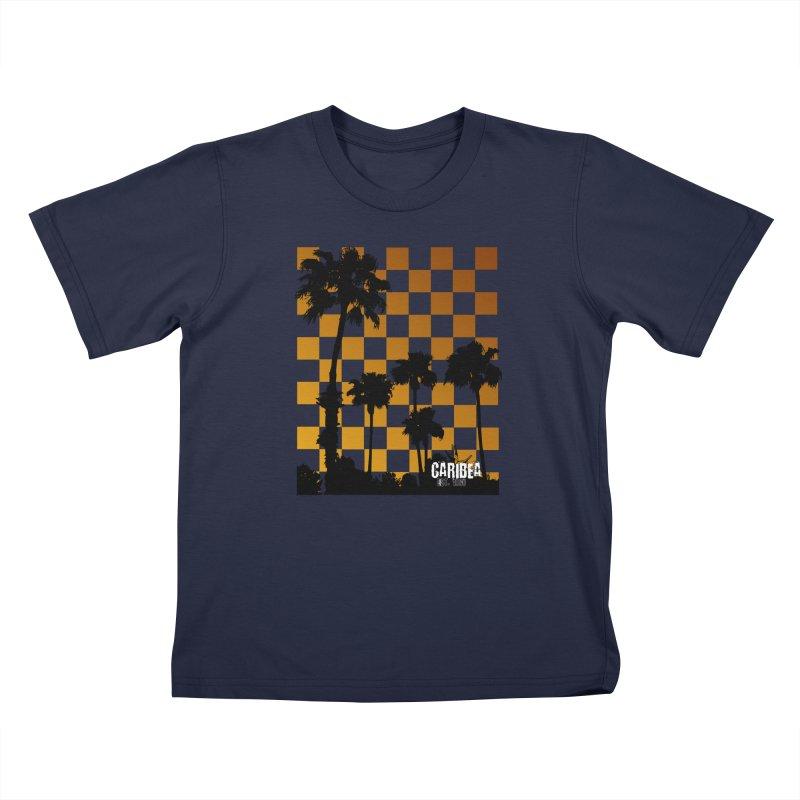 Punk Palms Kids T-Shirt by Caribea
