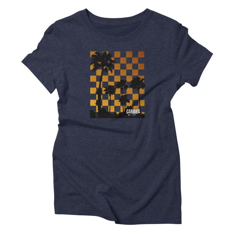 Sunset Palms Women's Triblend T-Shirt by Caribea