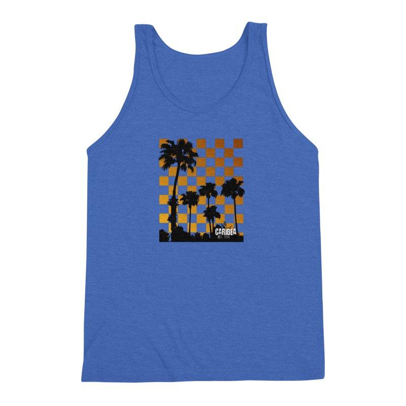 Punk Palms Men's Triblend Tank by Caribea