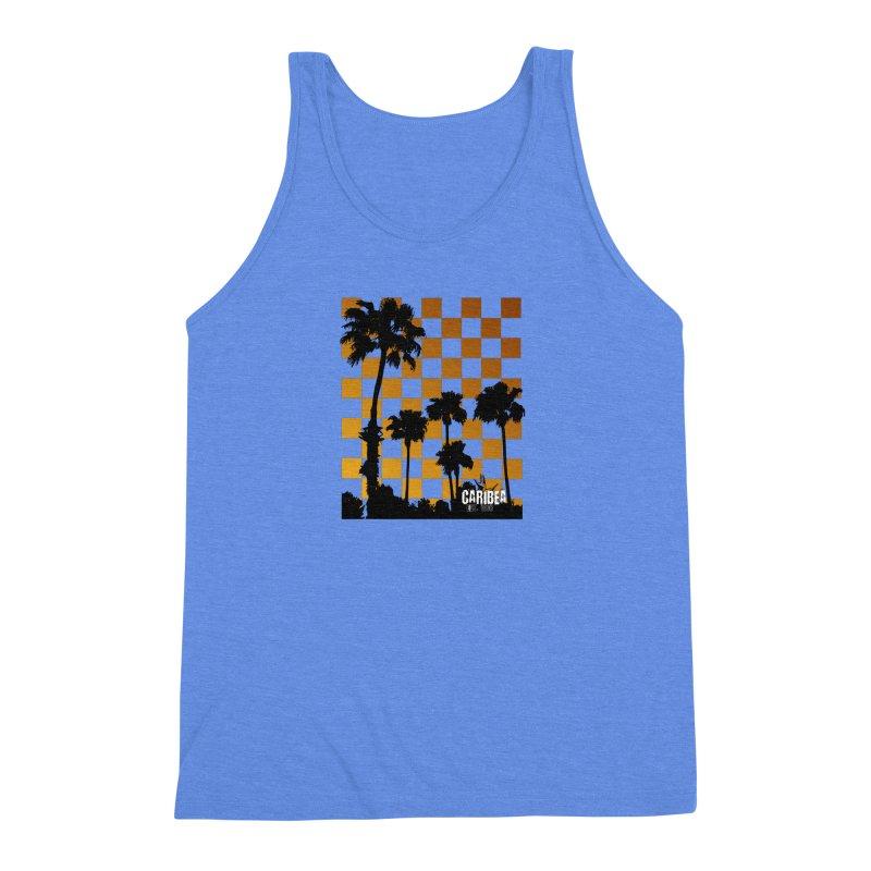 Sunset Palms Men's Triblend Tank by Caribea