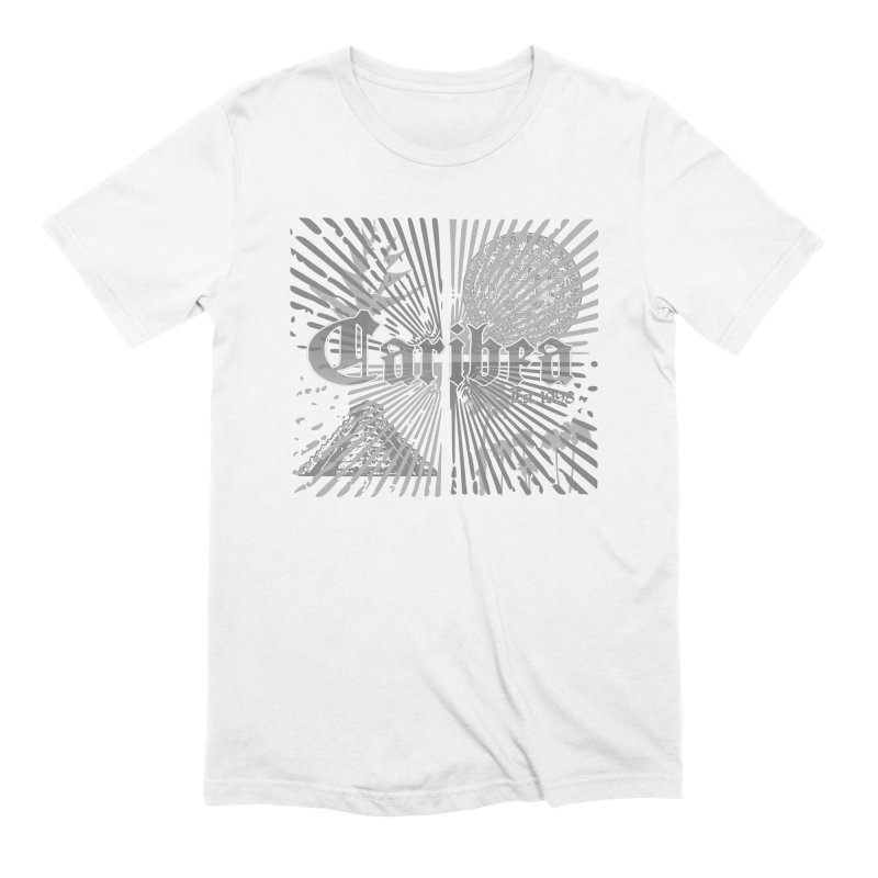 Mayan Squares in Men's Extra Soft T-Shirt White by Caribea