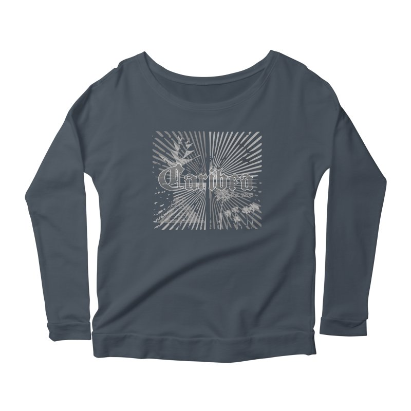 Mayan Squares Women's Scoop Neck Longsleeve T-Shirt by Caribea